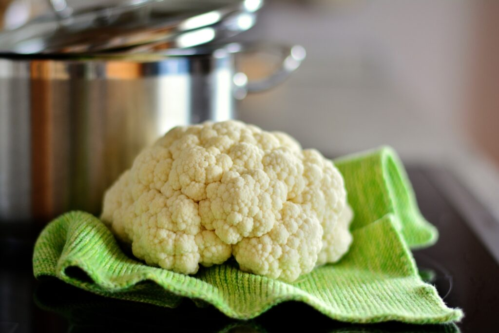 Boiling cauliflower to lose weight