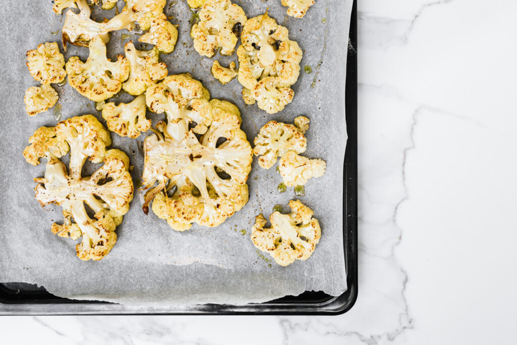 Cauliflower baked in the oven