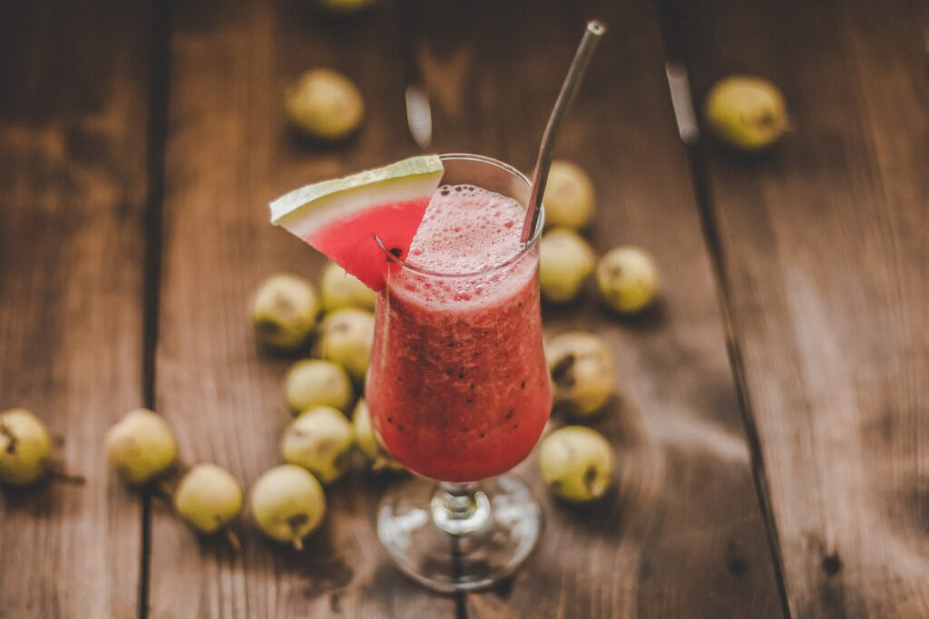 Glass of watermelon to lose weight