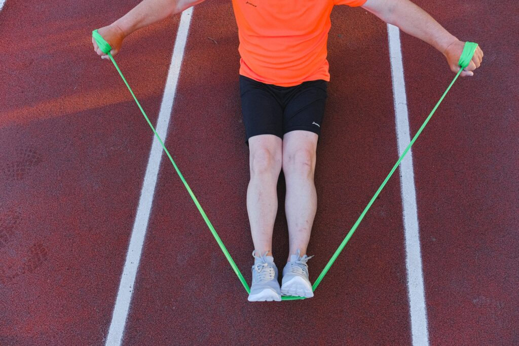 Individual stretching with resistance band