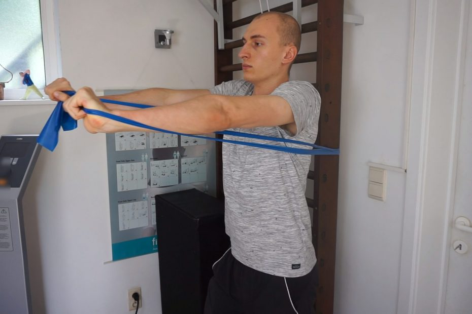 Resistance Band Chest Press How To, Variations,...